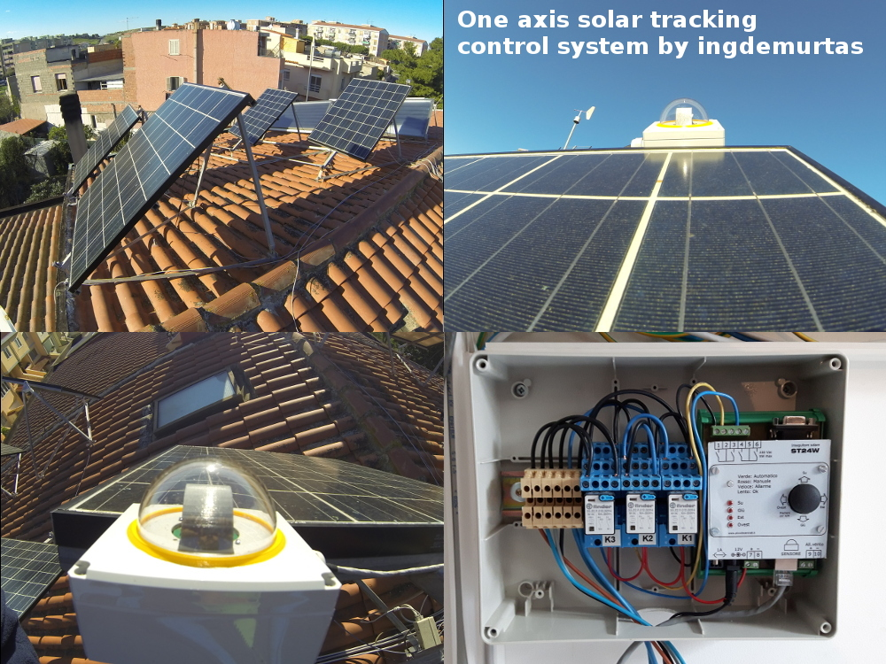 Sun tracking control system for PV – ingDemurtas