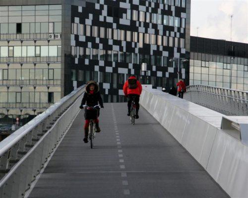 """Il ponte pedonale e ciclabile """"Odense brygge"""""""