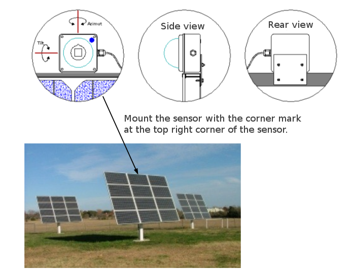 Sun-direction-sensor-mount