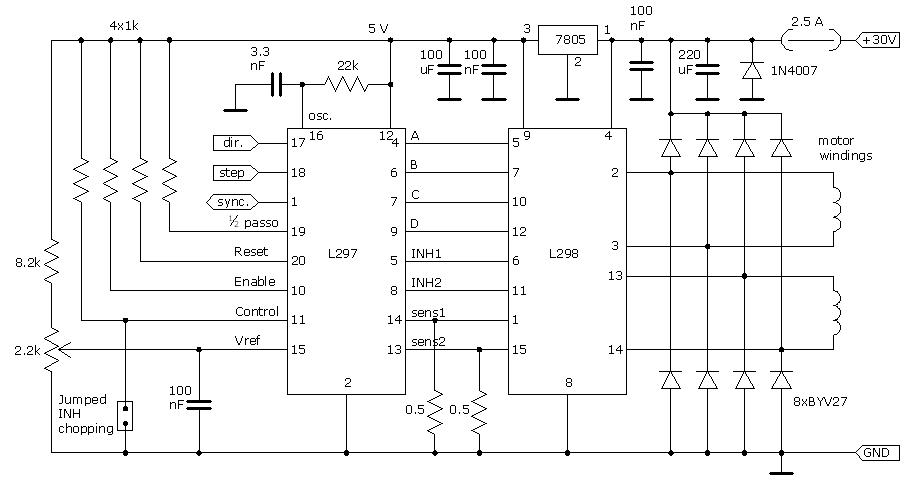 Schema Elettrico Gradino Project 2000 : Fresa cnc driver motori e interfaccia optoisolata